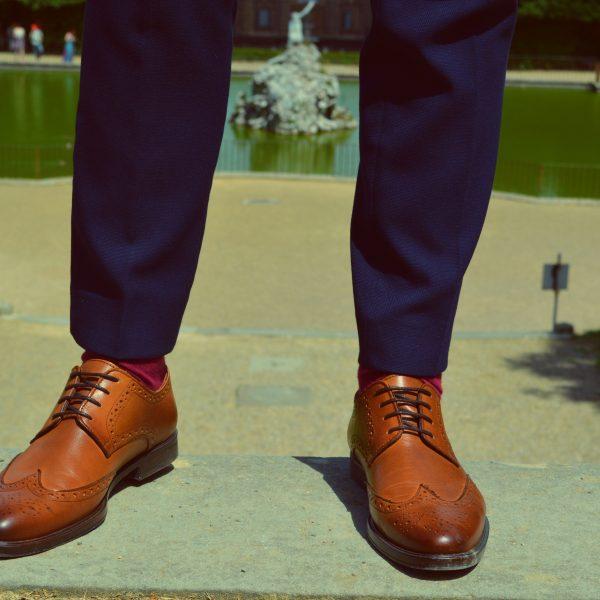 Brogue pantofi maro
